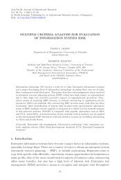 Multiple Criteria Analysis for Evaluation of Information System Risk