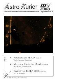 Bericht von der ILA 2008 - Moerser Astronomische Organisation eV