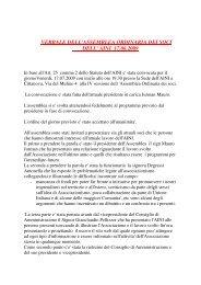 verbale dell'assemblea ordinaria dei soci dell' aini 17.06.2009