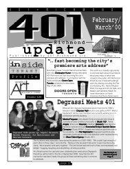 401 Newsletter - 401 Richmond