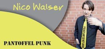 Pantoffel Punk - Nico Walser