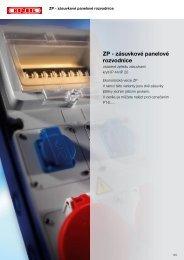 ZP - zásuvkové panelové rozvodnice - Hensel