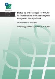 Status og anbefalinger for frilufts - Danmarks nationalparker
