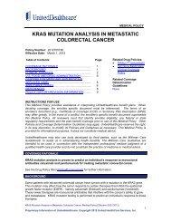 KRAS Mutation Analysis in - UnitedHealthcareOnline.com