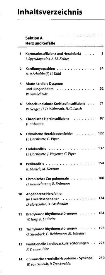 Page 1 Inhaltsverzeichnis Sektion A Herz und Gefäße 10 11 12 13 ...