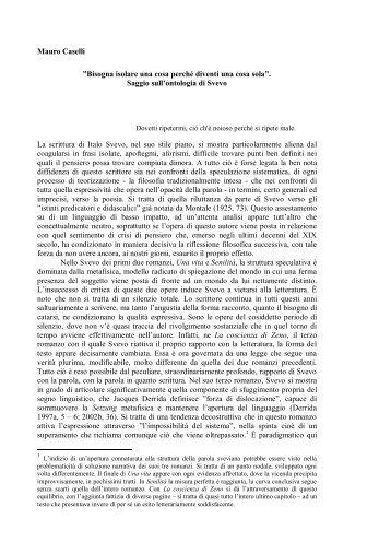"""Mauro Caselli, """"«Bisogna isolare una cosa perché ... - WebLearn"""