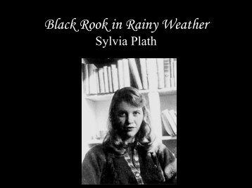 Black Rook in Rainy Weather Sylvia Plath - Filebox