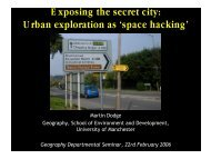 Exposing the secret city: Urban exploration as 'space hacking'