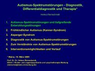 Autismus-Spektrumstörungen - Diagnostik, Differentialdiagnostik ...