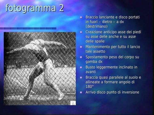 La tecnica del lancio del disco in 11 fotogrammi ... - Fidal Piemonte