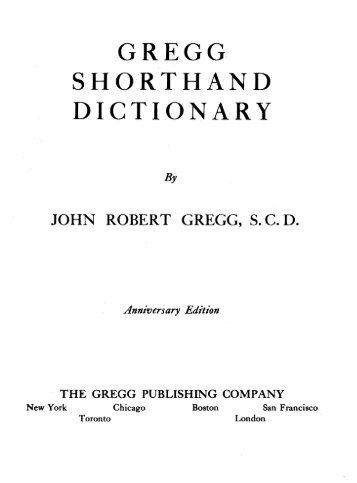 Gregg Shorthand Vowels