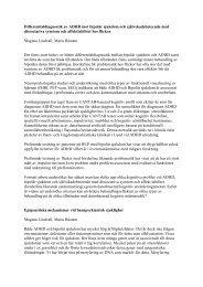 Differentialdiagnostik av ADHD mot bipolär sjukdom och ...