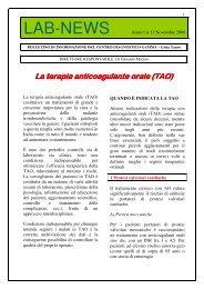 La terapia anticoagulante orale (TAO) - Centro Diagnostico Gamma