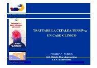 trattare la cefalea tensiva: un caso clinico - Convegno SISC 2011