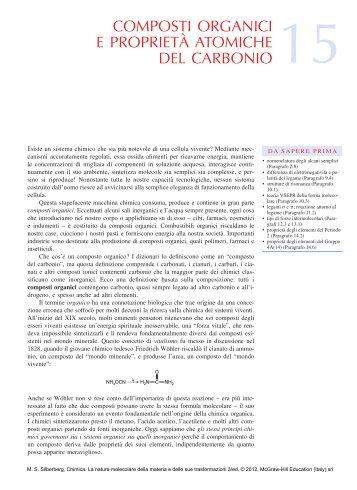 Capitolo 15 integrale, riguardante la chimica organica - Ateneonline