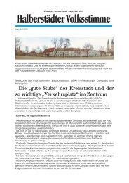 """Die """"gute Stube"""" der Kreisstadt und der so wichtige ... - Halberstadt"""