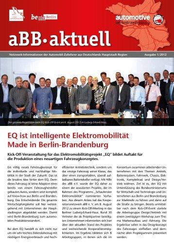aBB e.V. 01/2012 - Automobil Cluster BerlinBrandenburg