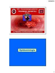 Epidemiologia - Pneumologia Pediatrica