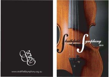 Program - Strathfield Symphony Orchestra