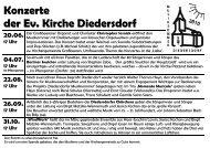 Konzerte der Ev. Kirche Diedersdorf 20.06. 17 Uhr