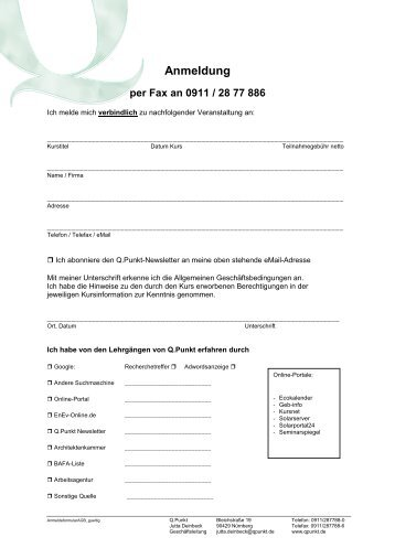 Anmeldeformular Update-Tage - EnergieRegion Nürnberg e.V.