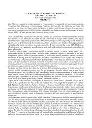 LA MUTILAZIONE GENITALE FEMMINILE: UNA FERITA ... - Inmp
