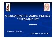 assunzione di acido folico - Azienda USL di Ferrara