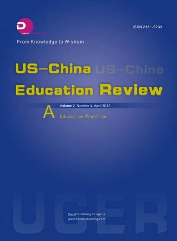 US-China Education Review - Berks County Intermediate Unit