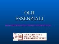 OLII ESSENZIALI - Medicina Estetica Università di Roma Tor Vergata