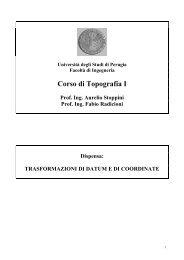 trasformazioni di datum e di coordinate - Università di Perugia ...