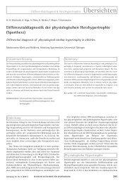 Differentialdiagnostik der physiologischen Herzhypertrophie