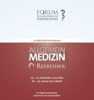 MEDIZIN - Forum für medizinische Fortbildung