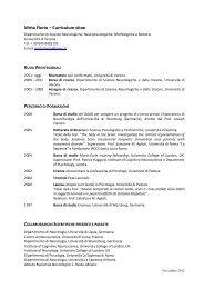 CV Mirta Fiorio Ita (pdf, it, 673 KB, 11/6/12) - Department ...