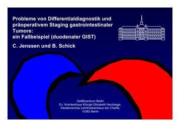 Probleme von Differentialdiagnostik und präoperativem Staging ...