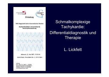 Schmalkomplexige Tachykardie: Differentialdiagnostik und Therapie ...