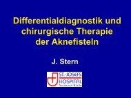 Differentialdiagnostik und chirurgische Therapie der Aknefisteln