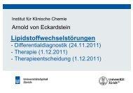 Lipidstoffwechselstörungen - Institut für Klinische Chemie
