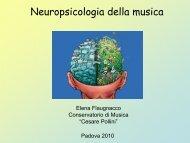 Lezione II - Neuropsico musica 2010.pdf - Corso di Tecnico Di Sala ...