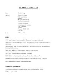 CV - Charlotte Krog - Danske Fysioterapeuter