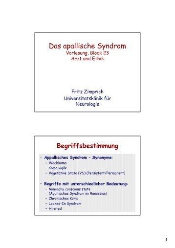 Das apallische Syndrom