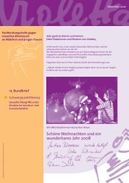 Rundbrief Dezember 2007 - Violetta