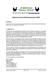AGB und Widerruf - Jagdschule Donau-Wald