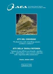 AEA ATTI CONVEGNO - Associazione Esposti Amianto FVG