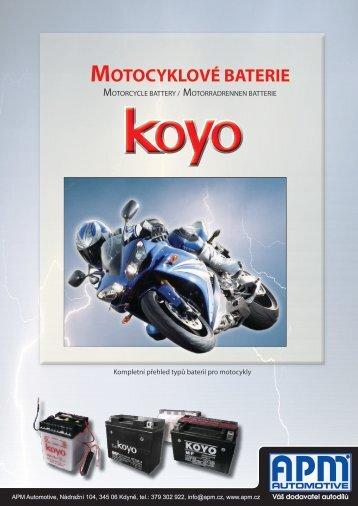 Katalog motobaterií Koyo - APM Automotive