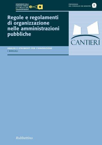 Regole e regolamenti di organizzazione nelle - Magellano