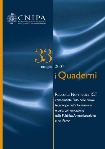 Raccolta Normativa ICT - Cnipa