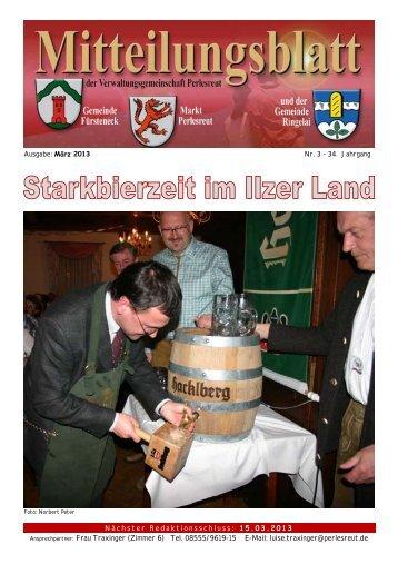 Ausgabe: März 2013 Nr. 3 – 34. Jahrgang Nächster ... - Perlesreut