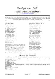 Canti popolari,belli. - Coro Alpino Capitano Grandi