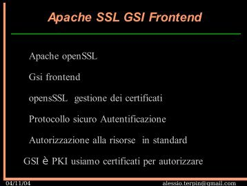 Apache SSL GSI Frontend - EGRID