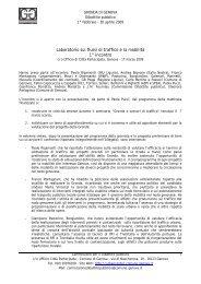 Primo incontro laboratorio - Urban Center - Comune di Genova